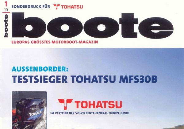 Сравнительное тестирование Мотор Tohatsu MFS 30 B