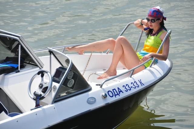испытания катера COBRA 1650 TC